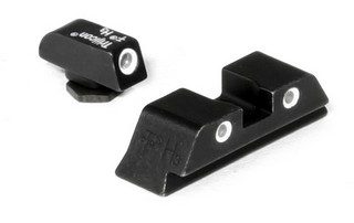 Glock 17 3-Dot Grn Frnt Org Rear Sights